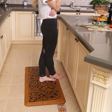 Special design flower printed pattern anti-fatigue waterproof anti slip kitchen floor mats