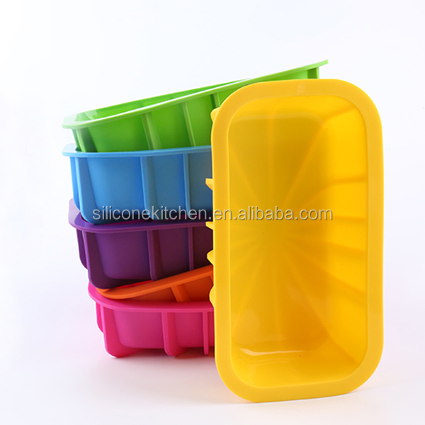 Eco-friendly rectangle bread cake baking mold silicone Loaf pan