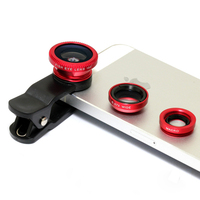 Universal Clip 3 in 1 Wide Angle Macro Fisheye Mobile Phone Camera Lens for Iphone 6/plus lens and Samsung Lens