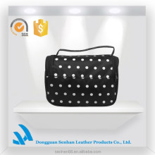 2015 Fashion black cosmetic case travel storage bag