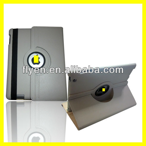 360 Degree Rotating PU Leather Case for iPad 4 3 2 Smart Cover w Magnetic Swivel Stand for Apple iPad Accessories Gray