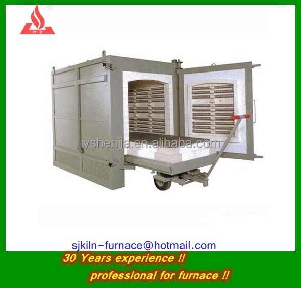trolley kiln fired ceramic fiber furnace gas fired melting furnace