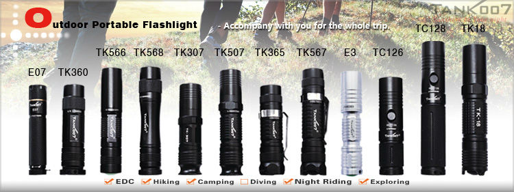 Tank007 cheap and high power 420 lumen police flashlight torch PT11L