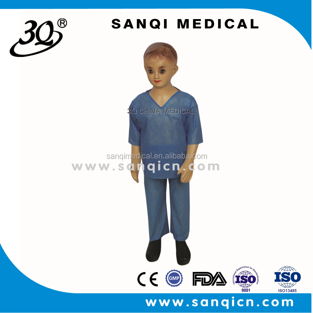 OEM Medical soft nonwoven fabric sterile Patient clothes/disposable scrubs /surgical gown/coat for children