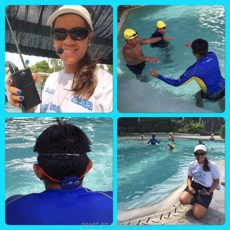 수영 훈련 무전기 코치 수중 뼈 전도 헤드셋 수영