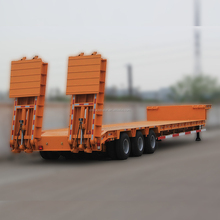 Factory steel material 40 ton low bed truck semi trailer for sale