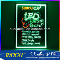 New invented electronic product neon light transparent acrylic led writing board china best selling electronic products