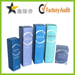 Factory cosmetic paper box packaging / cosmetic gift set packaging box