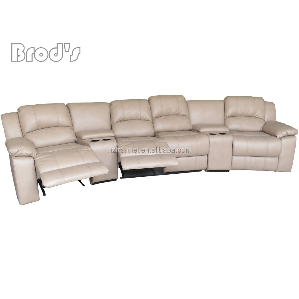 white leather American cheers furniture recliner sofa