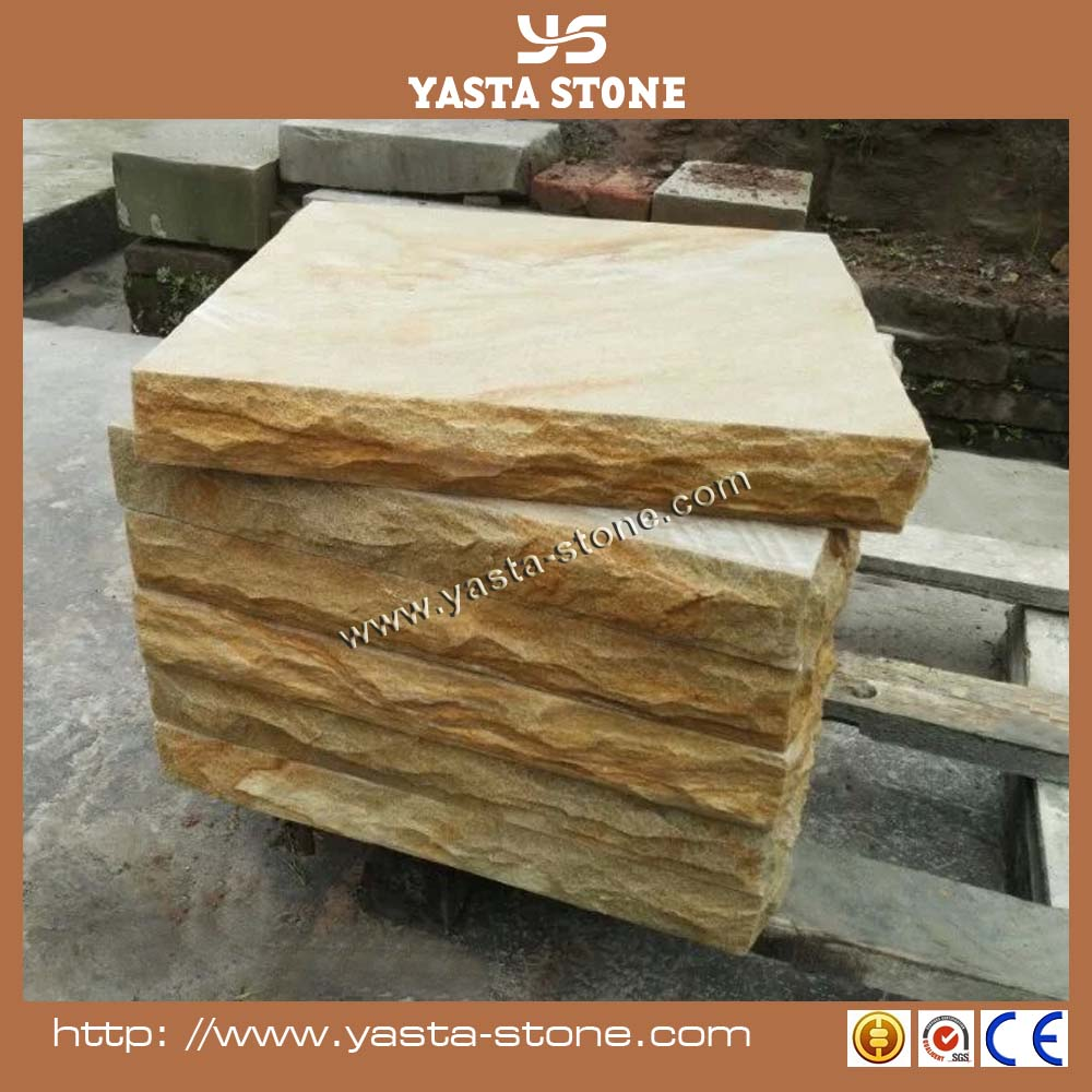 Engineered Yellow Sandstone Paving For Home