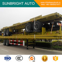2 Axles 40ft Flatbed Container Semi