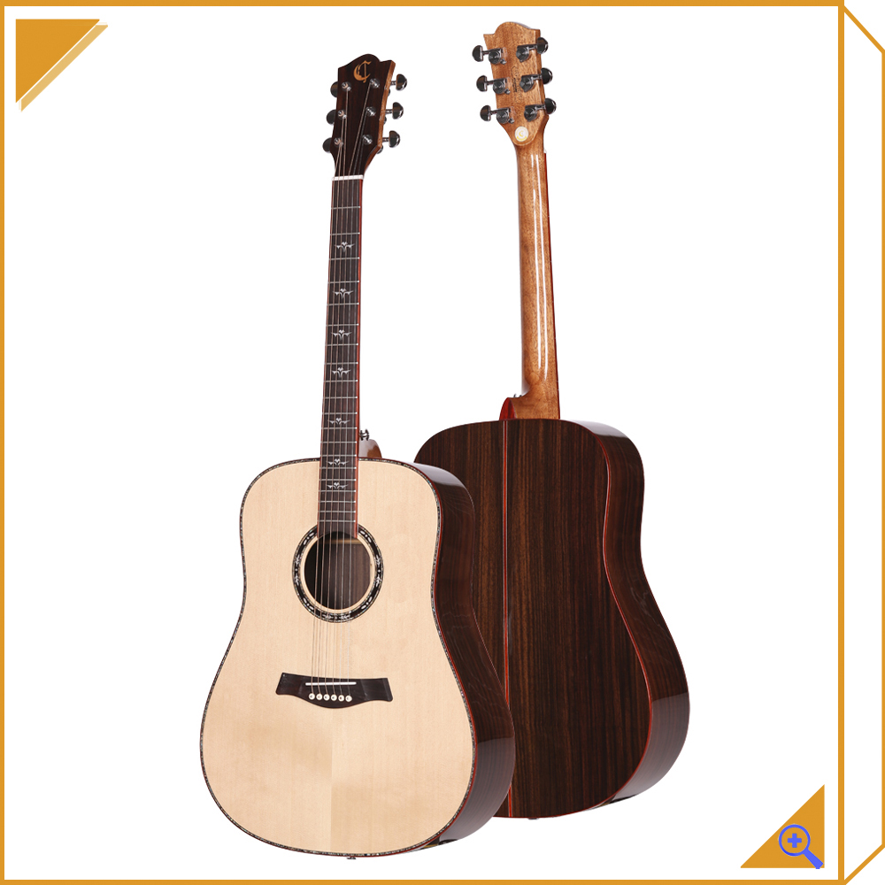all solid acoustic guitar china import direct