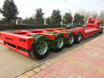 To Zambia 60~120 Ton Hydraulic-neck low-bed trailer ,Heavy Haul Equipment Trailer