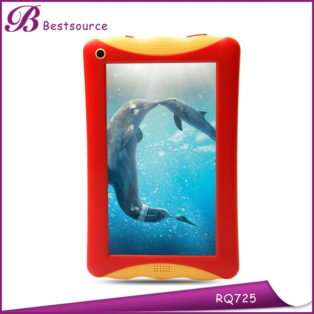 Very cute 7 inch chipset RK3126 quad core android 4.4 silicone case for 7 kids tablet