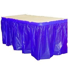 Everyday 14ft x 29 inches plastic self adhesive solid colour ruffled table skirts plastic table skirting