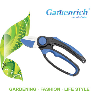 RG1419 Gardenrich light and easy cutting pruner garden scissor handheld bonsai tool