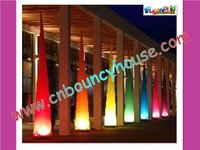 Glittering inflatable lighting with LED decoration (cone-79)