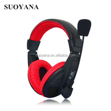 Computer headphone for gaming with microphone USB plug stereo headphone
