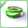 luminous debossed logo silicone wristbands