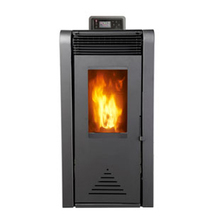 Free standing European style pellet stove