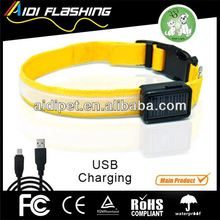 sports equipments USB recharging LED pet collar