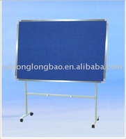 Decorate aluminium easel adjustment 90-240cm mobile school classroom roll up cork board for outdoor learning or training used