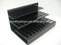 Countertop Shiny Black Acrylic Lipstick Display Organizer (CD-F-0101)