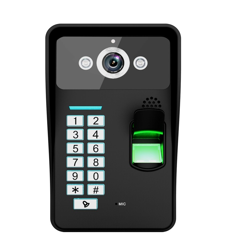 "7"" Color Home security Video Door Phone Kit intercome with fingerprint function"