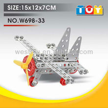 self assemble toys diy kids battle plane 3d metal model for sale