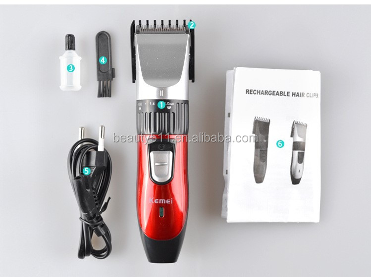 Wholesale Professional Rechargeable Electric hair clipper/cutter Salon KM-730