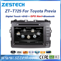 Zestech 2 DIN 8 inch Wince 6.0 Touchscreen Car DVD Player Stereo With Bluetooth for Toyota Previa