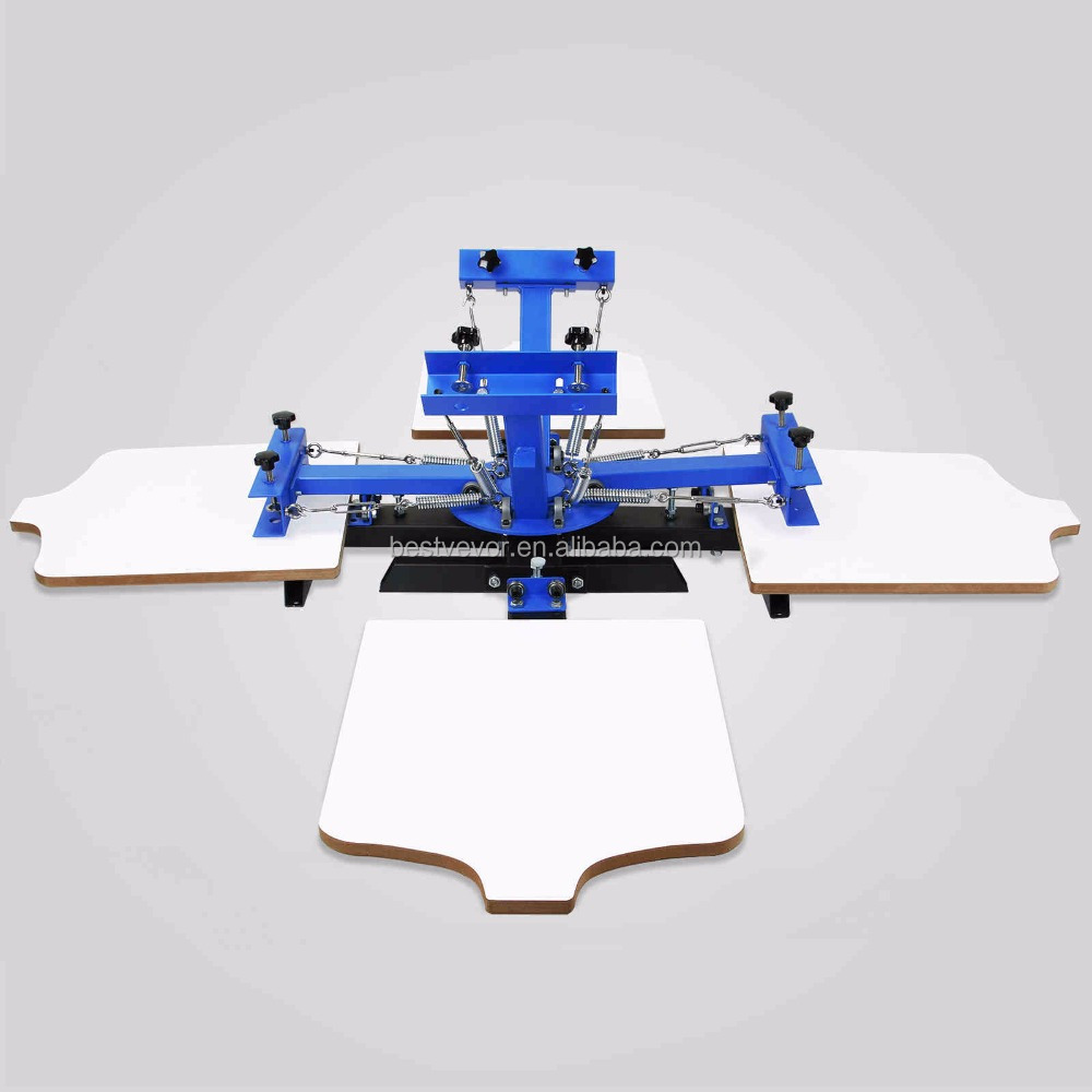 4 color 4 station Screen Printing Machine/ DIY T-Shirt Press Printer Machine