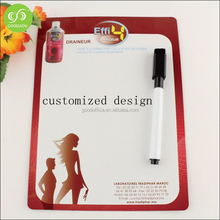 Customized dry erase magnetic white board , fridge magnet white board