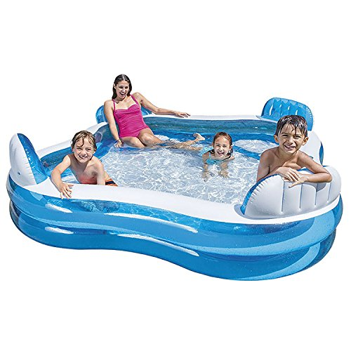 INTEX 56475 Inflatable PVC Outdoor Portable Plastic Family Lounge Swimming Air Pool