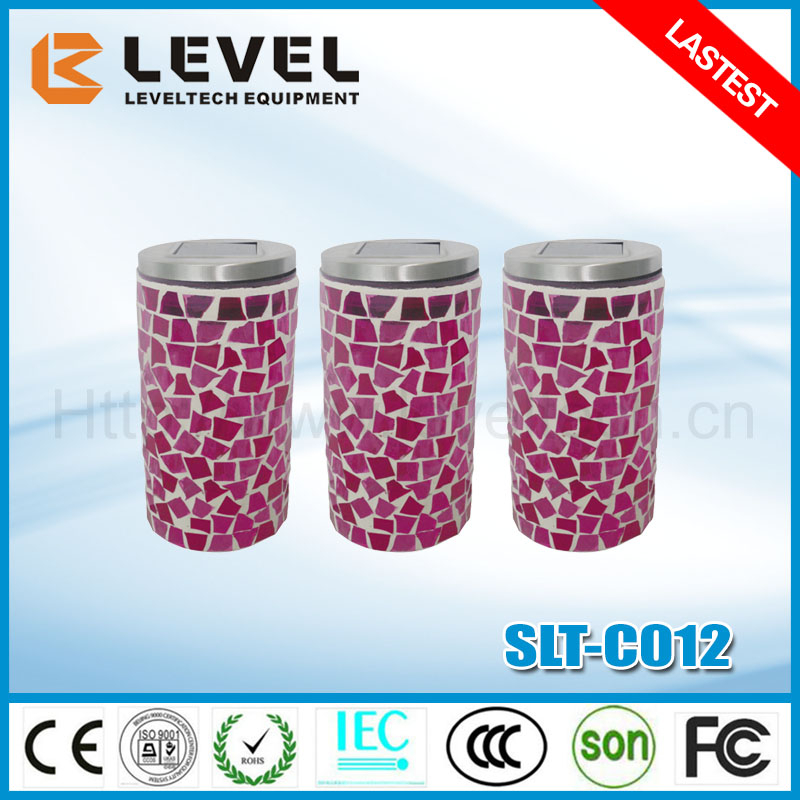 Mosaic+Stainless Steel 1.2V NI-MH AA 600MAH Pink Mosaic Outdoor Solar Light
