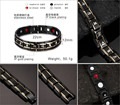Japan Titanium steel Bracelet with with healthcare stone, magnetic, germanium, negative ions, FIR
