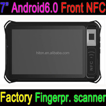 Cheapest Factory 7 inch Fingerprint scanner android6.0 front NFC semi-rugged tablets with front NFC