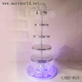 2017 Hot sale!!! 5 tiers birthday cake stand with light cake decoration supplies party decoration weddings decoration(CAKE-015)