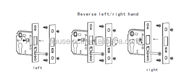High quality Stainless Steel fireplace small latch bolt only UK mortise lock