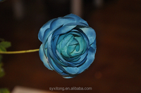 real touch silk cheap camellia blue rose flowers hotel decor