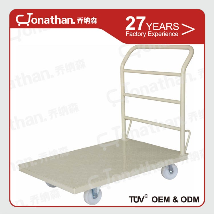 Pallet trolleyA mobile steel foldable Pallet trolley with 4 wheels