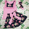 New Summer Flower Print Dress Bowknot