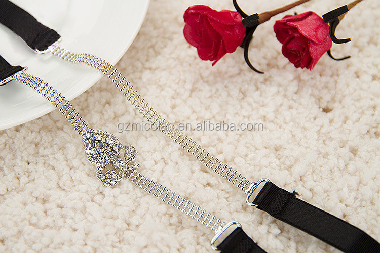bra strap chain, beaded bra straps MCL-BJ038