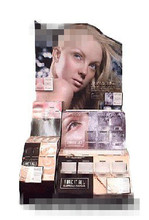 Custom cosmetic display counter with blister for Revlon eye shadow