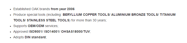 Hot selling copper carbide drum opener