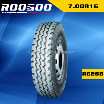 ROOGOO Promotional Cheap Radial Light Truck Tyre 700R16 7.00R16 750R16 7.50R16
