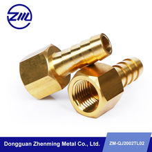 male and female brass pipe cnc customized threaded tube