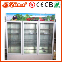 780L big display refrigerated upright coolers for water