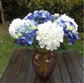 artificial white hydrangea flower for home dec