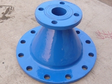 water and wastwater industry Ductile Iron Double Flange Pipe Fittings Taper